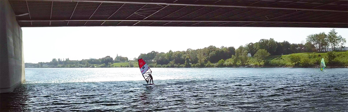 Windsurfing in Vienna